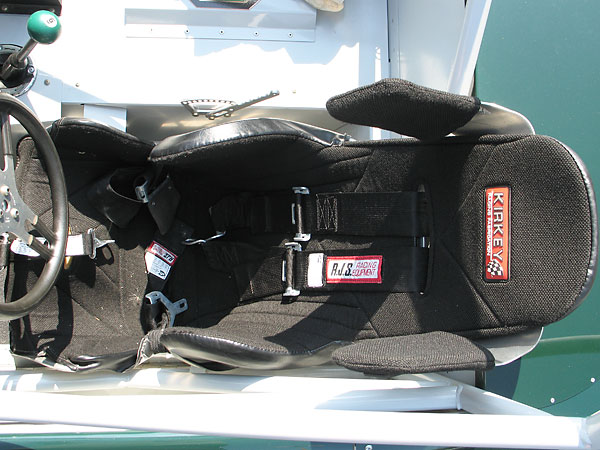 RJS Racing Equipment five point latch and link safety harness.
