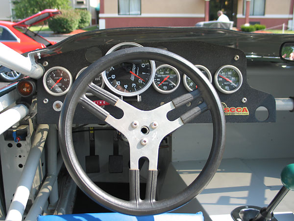 Sweet Manufacturing aluminum steering wheel.