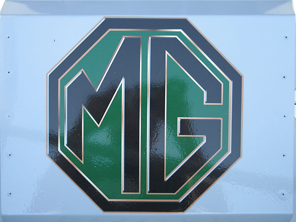 Large MG logo sticker.