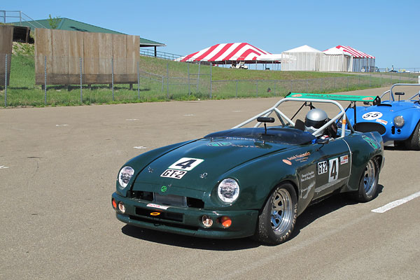 Jesse Prather volunteered to drive the RV8 at it's debut SCCA race at Heartland Park, Kansas.