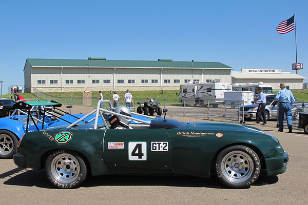 To race in SCCA, MGBs must normally choose between two classes.