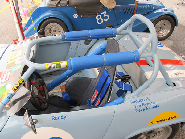 This roll cage was extracted from Gary Curtis' crashed Spridget racecar.