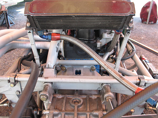 Setrab 10-row engine oil cooler.