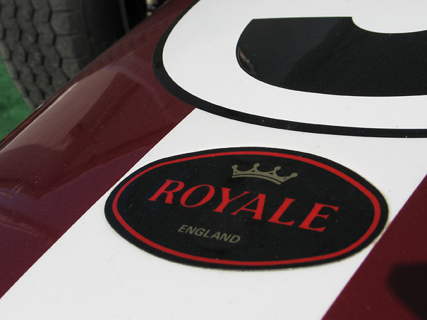 Bob King chose Royale as a tradename for racecars produced by his company, Racing Preparations Ltd.