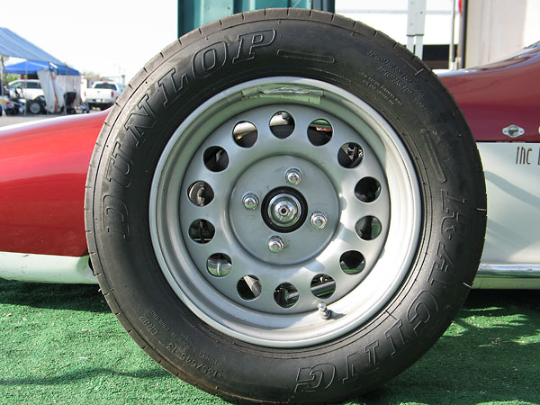Weller steel disc wheels are popular for Formula Fords because they're relatively lightweight.