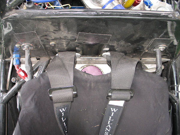 Custom Fuel Safe aluminum fuel cell, mounted under drivers seat.