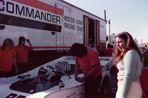 John Cannon getting ready to qualify the team's second number-98 McLaren (at Laguna Seca.)