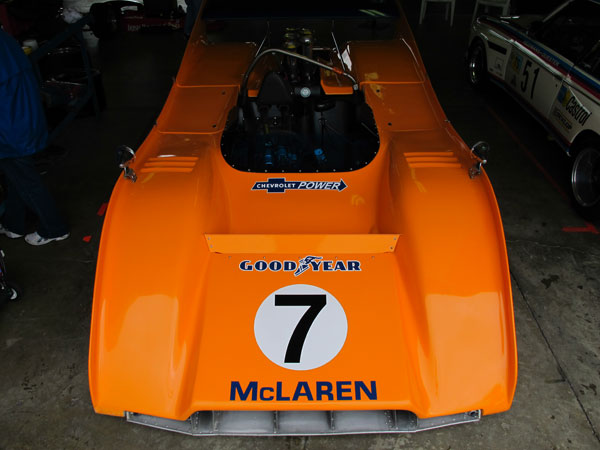 Lola T163, Matich SR3, McKee Mk10, and a McLaren Mk12 (i.e. an M8A body on top of a M6B chassis.)