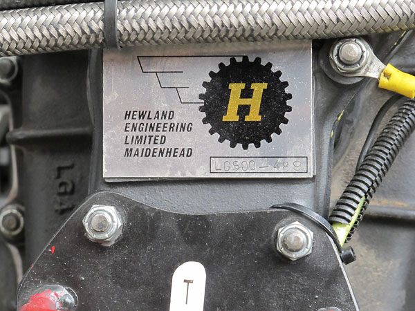 Hewland Engineering Limited Maidenhead, LG500-489