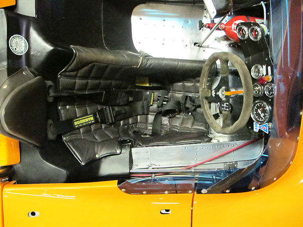 The McLaren M8F featured 3 inches of extra length, added right in the middle.