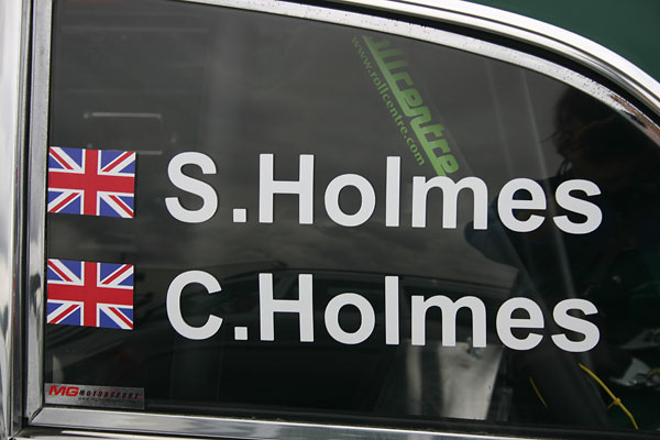 Shaun Holmes. Connor Holmes. MG Motorsport sticker. Rollcentre.com roll cage.