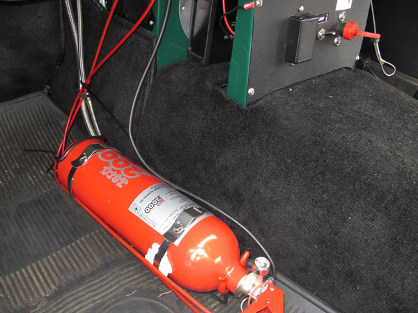 Zero 2000 ozone friendly, plumbed fire suppression system.