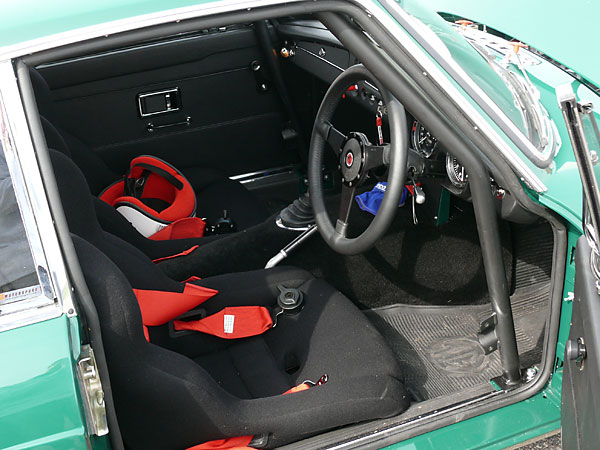Ridgard RS9 racing seats with Willans four-point harnesses