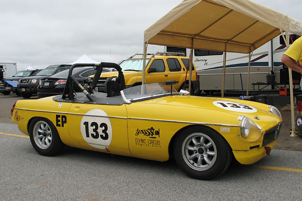 Simon Briggs' 1972 MGB Race Car, Number 133