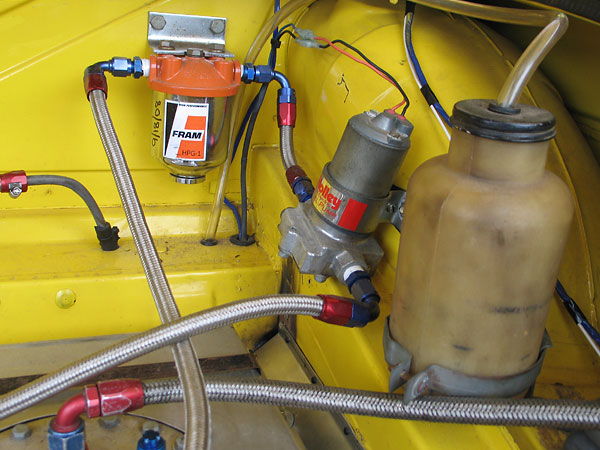 Holley fuel pump. Fram HPG-1 filter.
