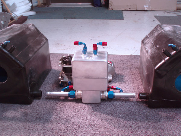 Dual fuel cells of ~22 gallons each.