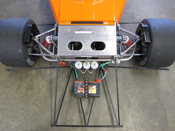 March 741 front suspension uses March Formula Two uprights.