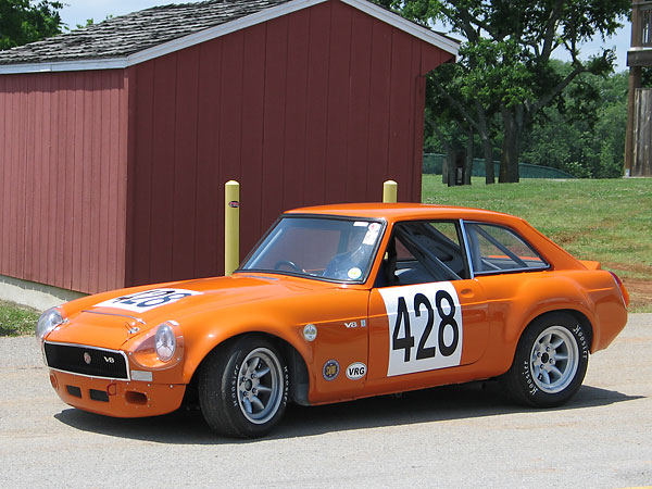 Storm Field's 1972 (factory) MGB GT V8 Race Car, Number 428