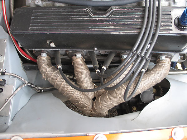 Header wrap is used to keep exhaust gases hot and keep heat down in the engine compartment.