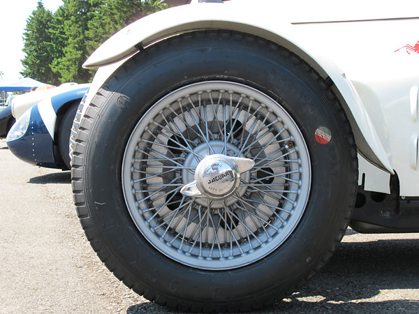 Dunlop 70-spoke wheels are used to help cool the Al-fin brake drums.