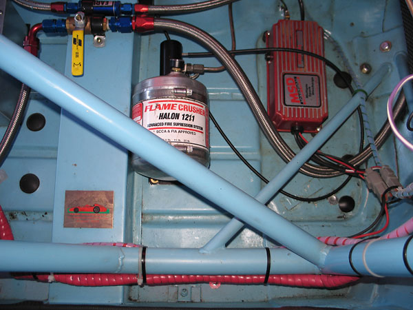 Fire Crusher Halon 1211 centralized fire suppression system.