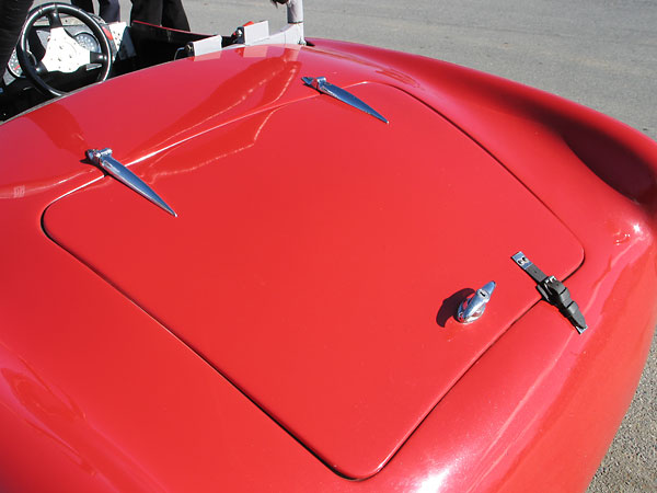 Alignment of bonnet and boot lids on this example are remarkably good despite its long racing history.
