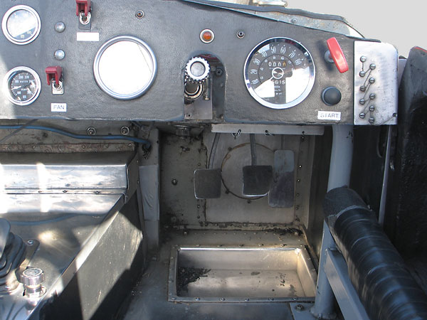 The transmission tunnel cover is removeable for convenient access for maintenance and repairs.