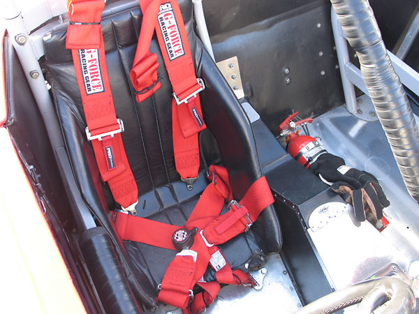 G-force six point cam-lock safety harness.