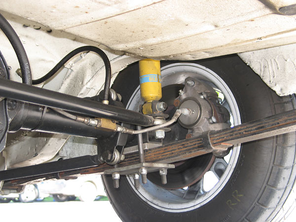 Escort rear suspension picture
