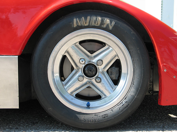 Revolution one-piece aluminum wheels.