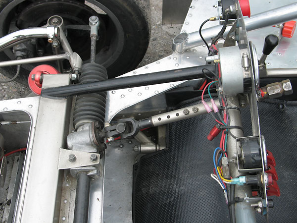 The column can be extended to move the steering wheel closer to the driver.