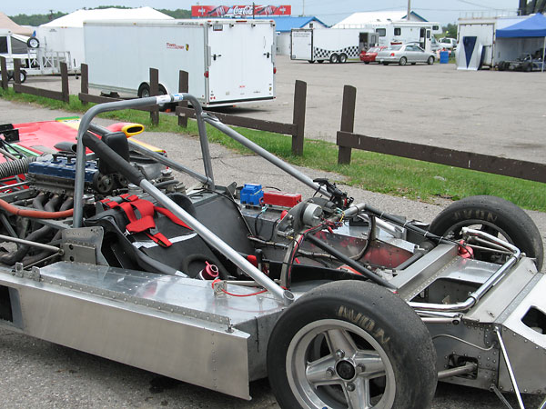 Sports racers generally offer more side-impact protection than open-wheel racecars.